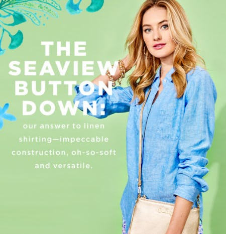 The Seaview Button Down from Lilly Pulitzer