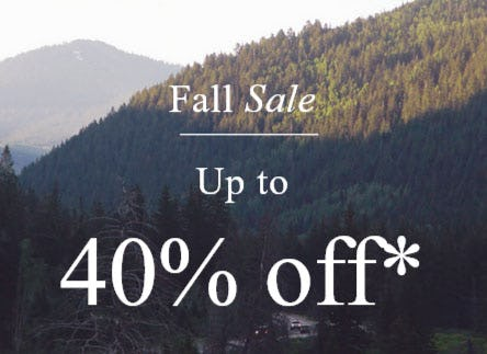 Up to 40% Off Fall Sale