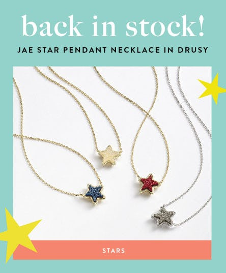 Stars Are Back in Stock from Kendra Scott