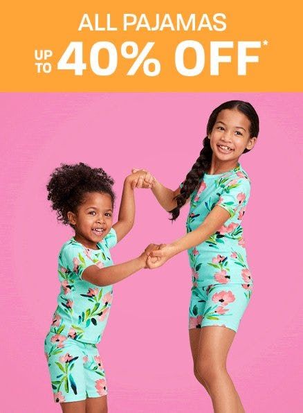 All Pajamas up to 40% Off from The Children's Place