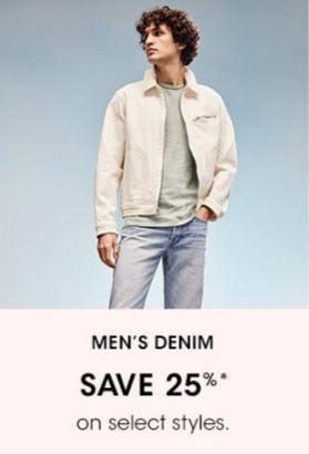 Men's Denim Save 25% from Bloomingdale's