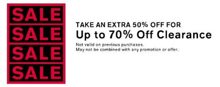Take an Extra 50% Off Clearance from Express