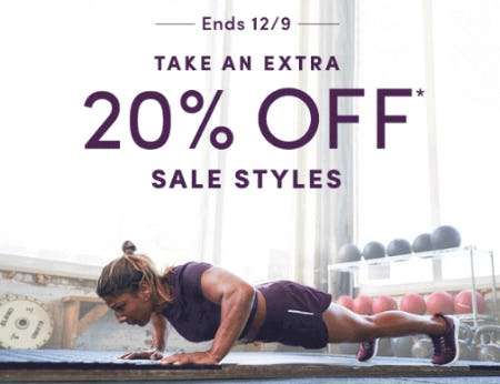 Take an Extra 20% Off Sale Styles from Athleta