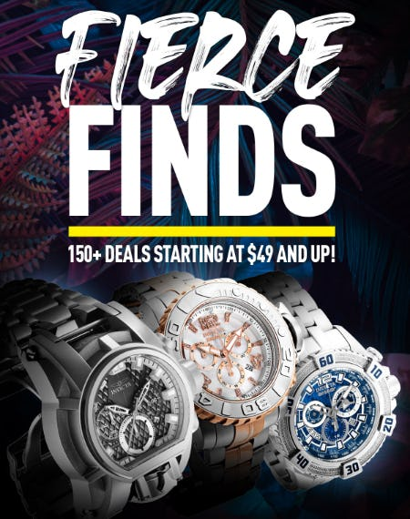 Fierce Finds Starting at $49 and Up from Invicta