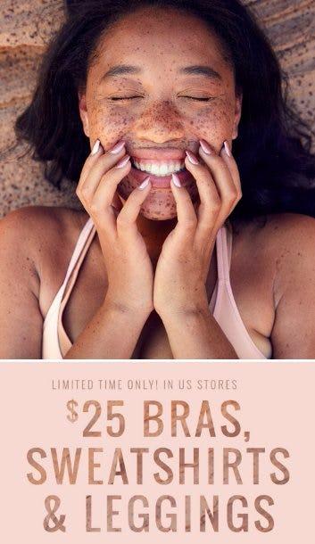 $25 Bras, Sweatshirts & Leggings