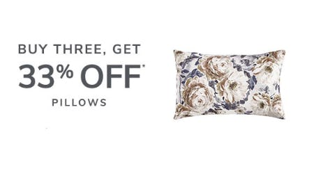 Buy 3, Get 33% Off Pillows