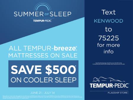 All TEMPUR-breeze Mattresses on Sale - Save $500 on cooler sleep