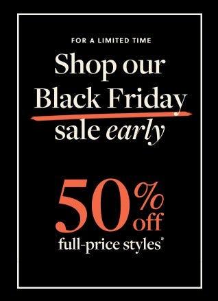 50% Off Full-Price Styles