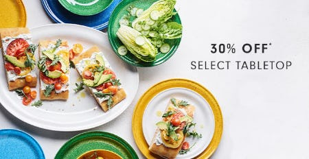 30% Off Select Tabletop from Williams-Sonoma