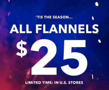$25 All Flannels from American Eagle Outfitters