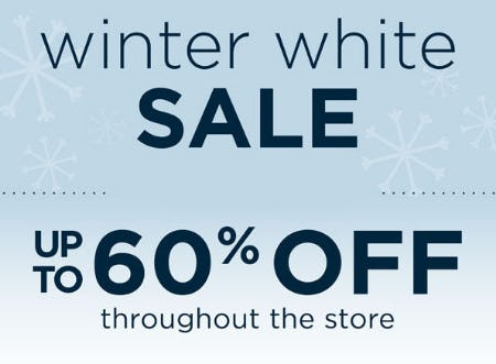 Up to 60% Off Winter White Sale from Kirkland's