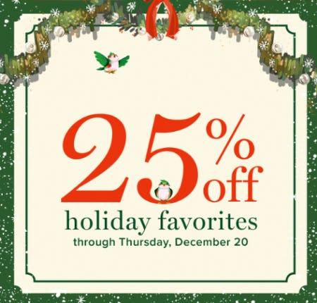 25% Off Holiday Favorites from Vera Bradley