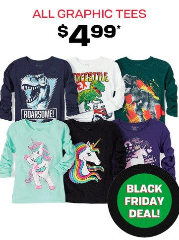 All Graphic Tees $4.99 from The Children's Place Gymboree