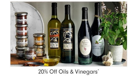 20% Off Oils, Vinegars & Dispensers