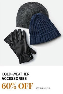 Cold-weather Accessories 60% Off from Jos. A. Bank