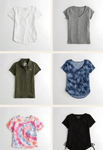 Shop New Tees & Tanks from Hollister Co.