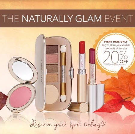 Jane Iredale The Naturally Glam Event