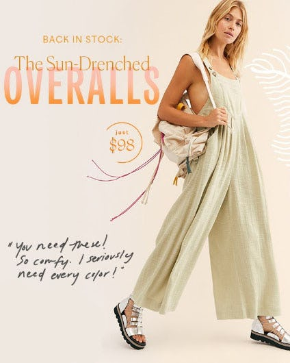 Back in Stock: The Sun-Drenched Overalls from Free People