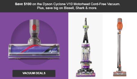 Save $100 Vacuum Deals