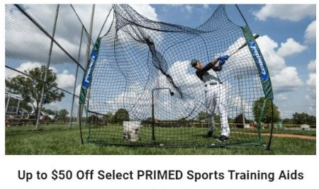 Up to $50 Off Select PRIMED Sports Training Aids