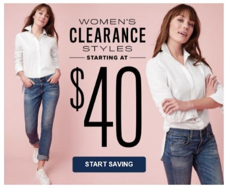 Women's Clearance Styles Starting at $40