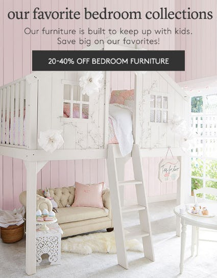 20-40% Off Bedroom Furniture from Pottery Barn Kids