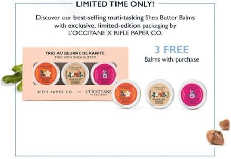3 Free Balms With Purchase
