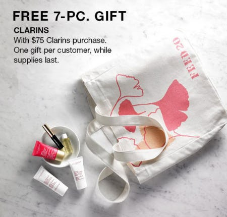 Free 7-Pc. Gift with Clarins Purchase
