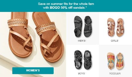 BOGO 50% Off Sandals from Target