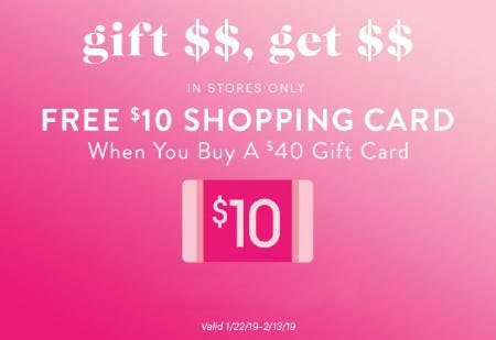 Free $10 Shopping Card