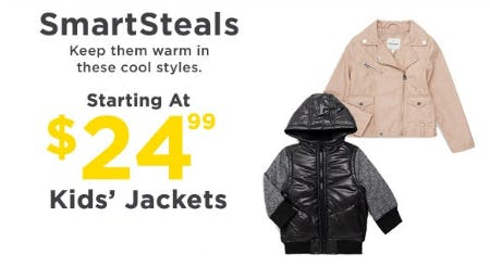 Smartsteals Kids' Jackets Starting at $24.99