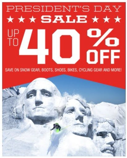 President's Day Sale up to 40% Off from Sun & Ski Sports
