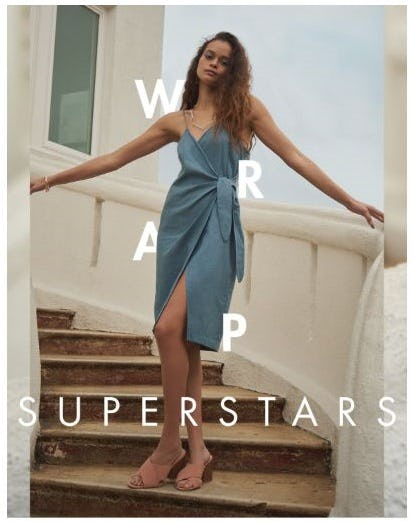 Wrap Superstars from BCBG