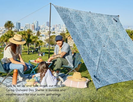 New REI Co-op Outward Day Shelter from West Elm