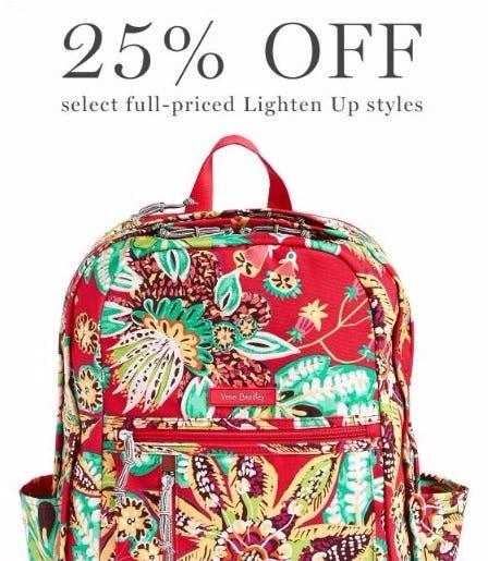25% Off Select Full-Priced Lighten Up Styles
