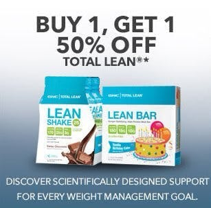 Buy 1, Get 1 50% Off Total Lean