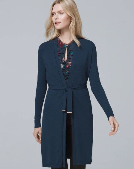 Belted Knit Cover-Up from White House Black Market