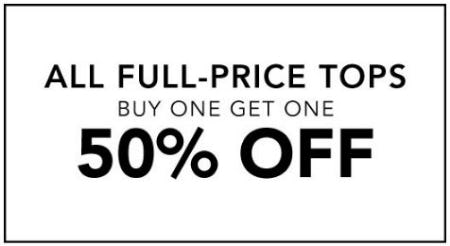 All Full-Price Tops Buy One, Get One 50% Off from Lane Bryant