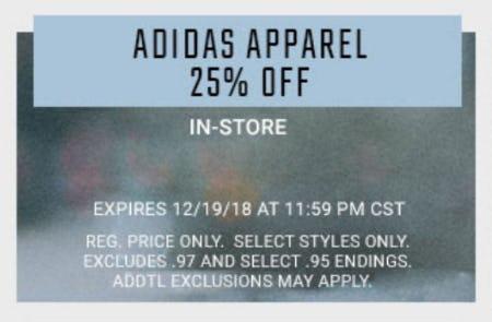 25% Off Adidas Apparel from Hibbett Sports