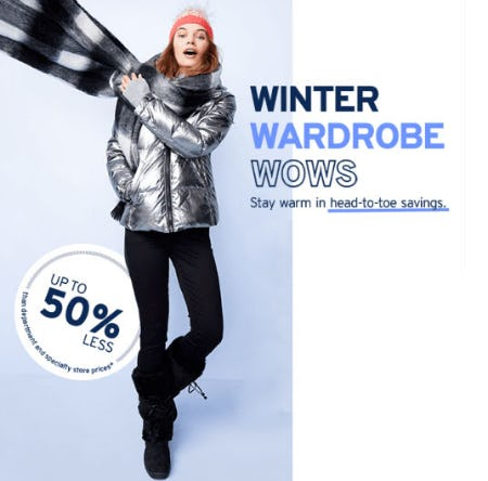 Up to 50% Less Winter Wardrobe