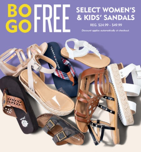 BOGO Free on Select Women's & Kids' Sandals from Shoe Carnival