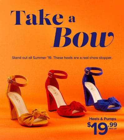 Heels & Pumps $19.99 and Up from Rainbow