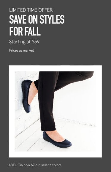 Save on Styles for Fall Starting at $39 from The Walking Company