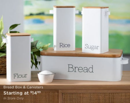 Bread Box & Canisters Starting at $14.99 from Kirkland's