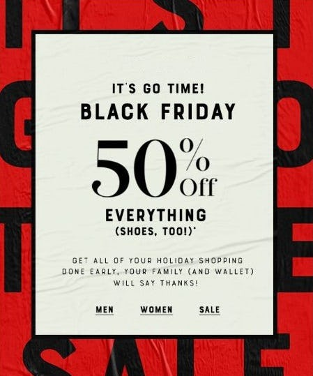 50% Off Everything from Lucky Brand Jeans