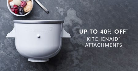 Up to 40% Off KitchenAid Attachments