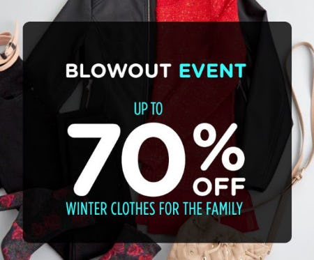 Blowout Event: Up to 70% Off Winter Clothes for the Family from Sears