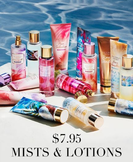 $7.95 Mists & Lotions from Victoria's Secret