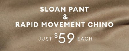 Sloan Pant & Rapid Movement Chino Just $59 Each from Banana Republic