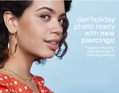 Free Ear Piercing with Piercing Earrings Purchase from Piercing Pagoda
